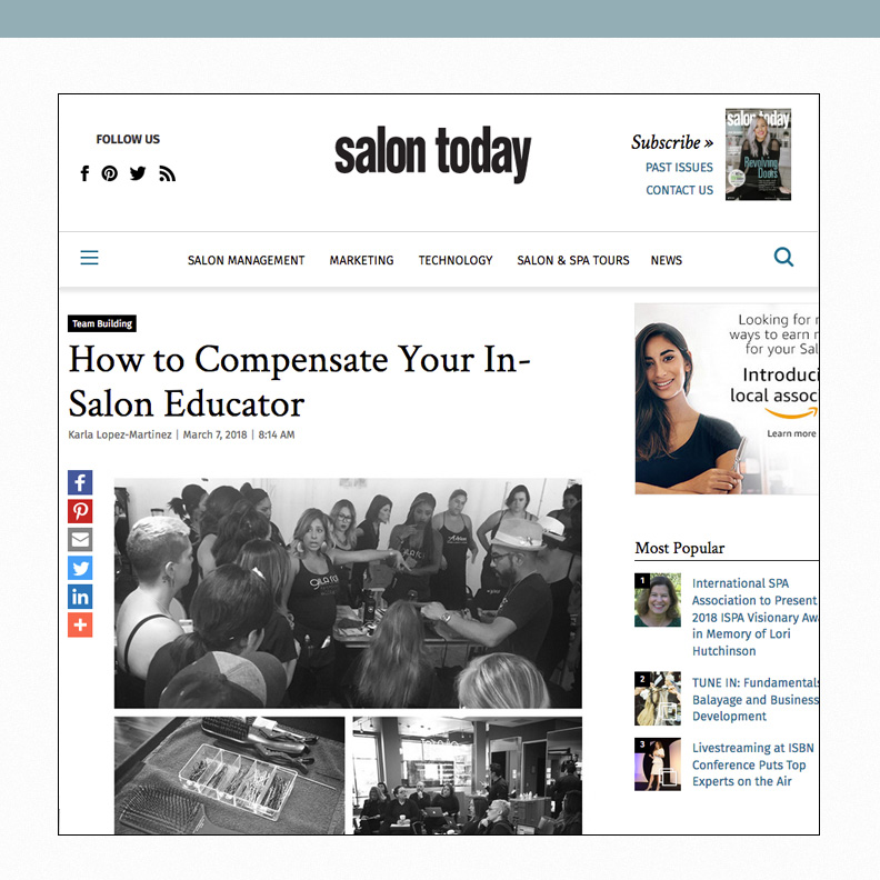 How to compensate your in-salon educator