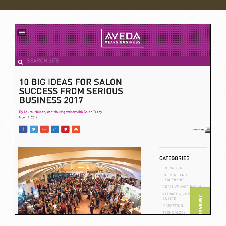 10 Big Ideas for Salon Success from Serious Business 2017